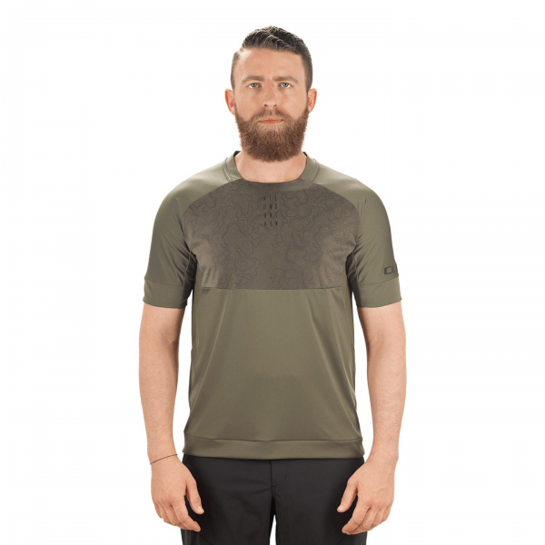 TRICOU CICLISM CUBE AM ROUND-NECK OLIVE S