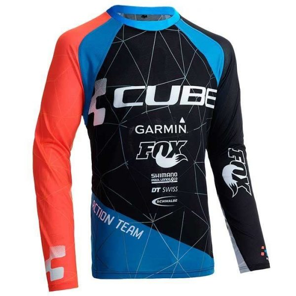 BLUZA CICLISM CUBE ACTION TEAM ROUNDNECK JERSEY 10667 L